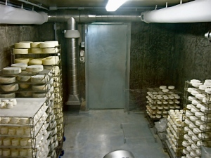 The aging room at Fifth Town
