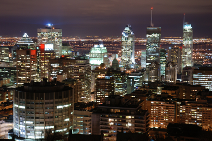 Montreal at night, from Mount Royal