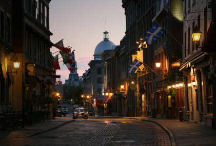 A street in Old Montreal