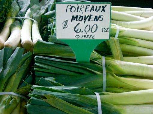 Leeks at Jean Talon Market, Montreal