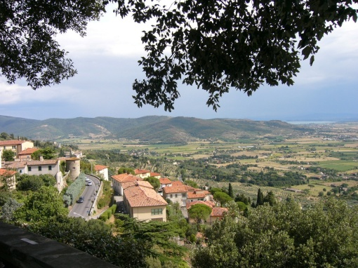 The view from Cortona, Italy