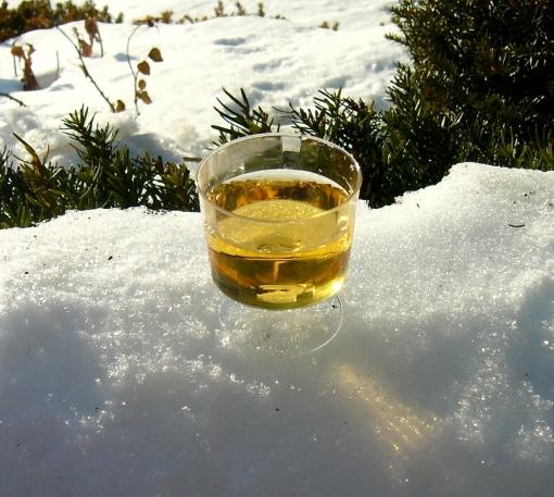 A sample of ice wine at Peller Estates