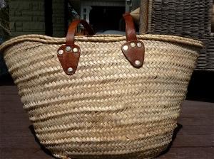 A sturdy straw bag is a stylish alternative to plastic