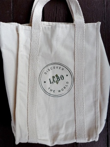 Ontario liquor stores no longer give out plastic bags so using a canvas tote makes sense
