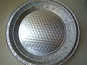 Use a disposable foil pan in any shape and size you wish
