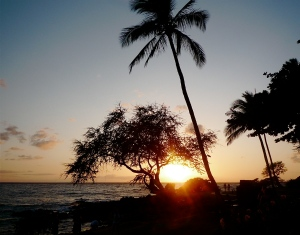 The sunset from Wailea