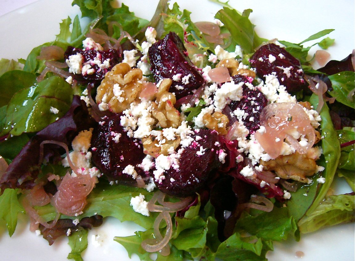 Roasted Beet Salad with Walnuts and Feta | The Seasonal Gourmet