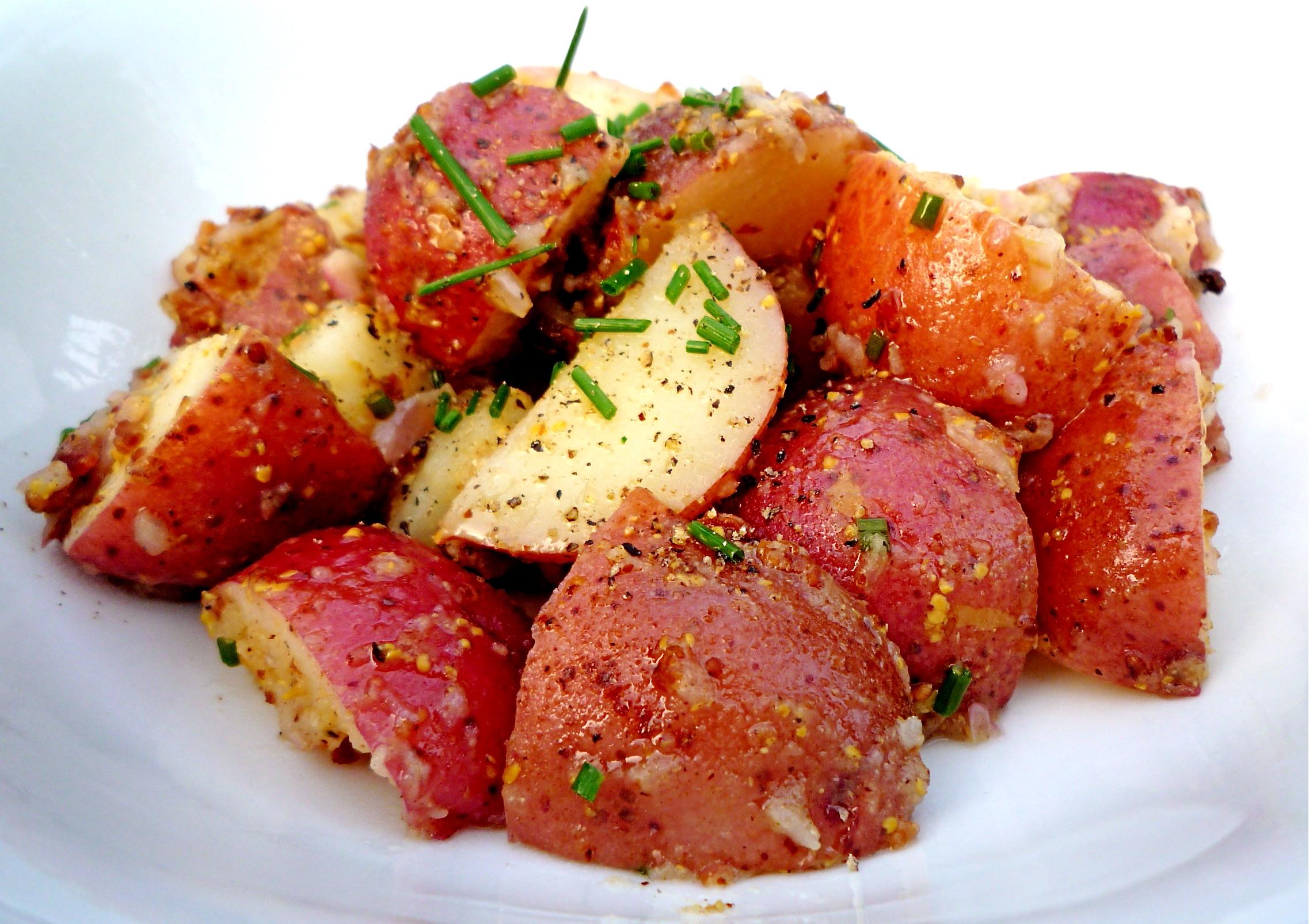 Baby Red Potato Salad with Mustard Vinaigrette | The Seasonal Gourmet
