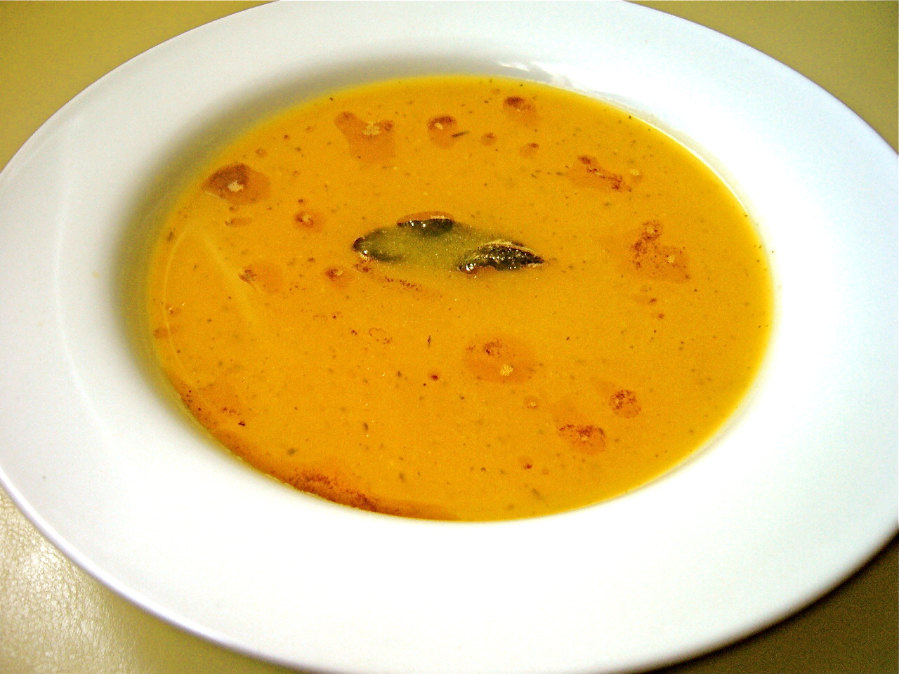 Butternut Squash Soup with Sage Brown Butter | The Seasonal Gourmet