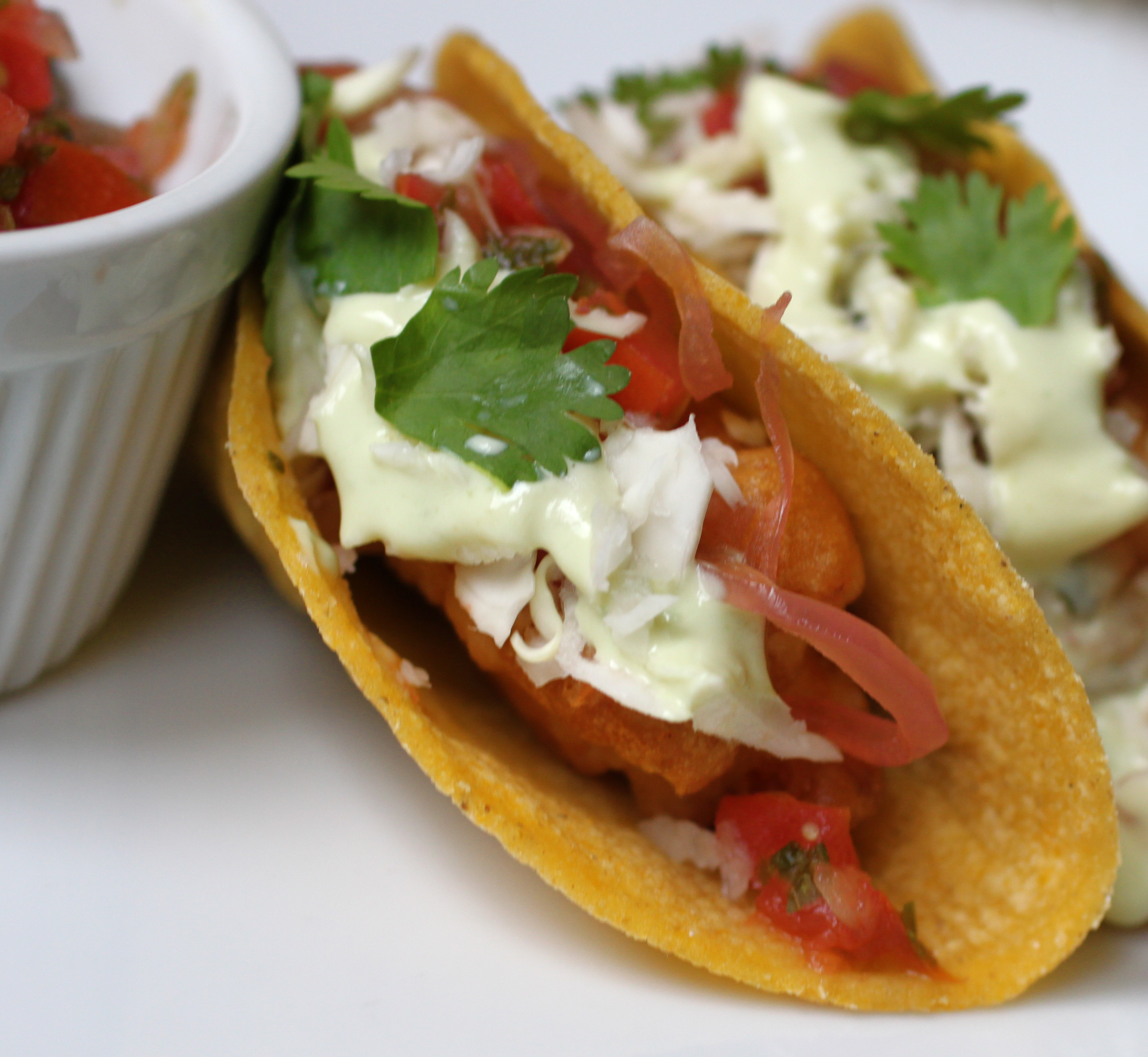 Crispy fish tacos for Breaded fish tacos